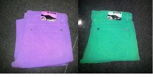 2 Pantalones Kfive Nuevos! Verde Y Violeta