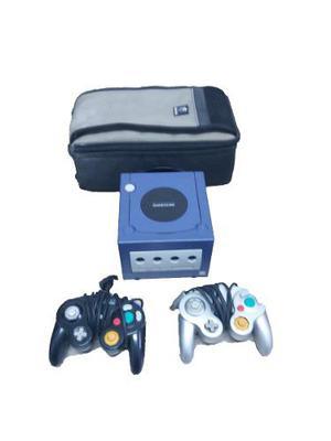Gamecube Azul 2 Controles Y Bolso De Gamecube