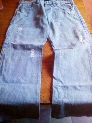 Jeans Mujer cod 7 color celeste talle 38
