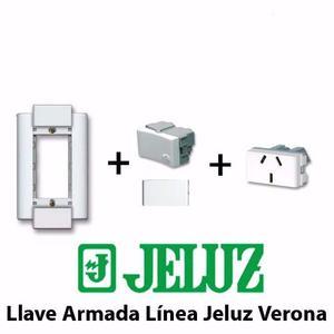 Llave De Luz Armada Línea Jeluz Verona Blanca