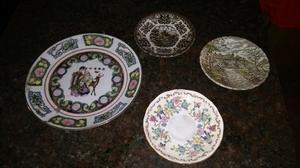 Platos de porcelna inglesa country scenes y chinos.