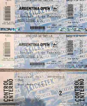 Entradas Para La Final De Argentina Open 2018