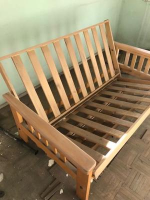 Esqueleto de futon en guatambú 2 plazas/3 cuerpos