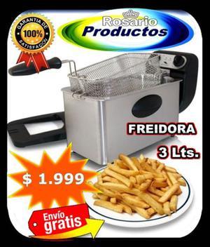 FREIDORA ELÉCTRICA 3 LITROS 1 CANASTO  WATTS