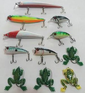 Kit 11 Señuelos / Pesca Tararira Dorado / De 5 Cm A 14 Cm