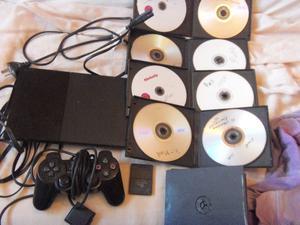 Playstation 2, slim con 1 josytick, memoria y juegos