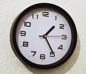 Reloj De Pared Nek 20 Cm Blanco / Negro - 1° Calidad