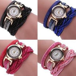 Relojes Pulsera Piedras /perlas Varios Colores X 10 Unidades