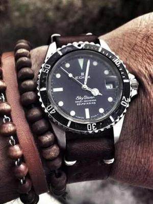 Unico Edox Sky Diver De Coleccion Submariner Scuba