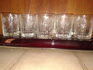 Vendo 10 Vasos De Wisky De Cristal Tallado (Usado) $230