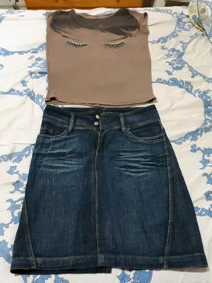 Vendo pollera y blusa de mujer