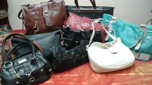variedad de carteras usadas