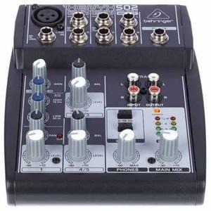 Behringer Xenyx 502 Consola Mixer 5 Entradas Phantom Power