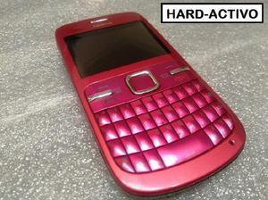 Celular Nokia C3 Liberado / Fucsia Cargador - Impecable