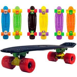 MINI CRUISER LONGBOARD MOOLAHH BOARDS VINYL 22 COLORES