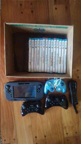 Wii U + 4 Controles + 14 Juegos + Fundas. Perfecto Estado