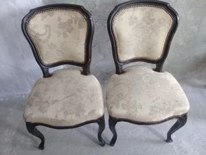 2 Sillas antiguas tipo victorianas luis xv