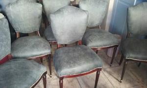4 sillas tapizadas en cuero de vaca por $
