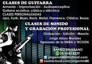 Clases de Guitarra Todos los estilos y Sonido Profesional
