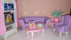 Juego de Living Barbie para Muñecas