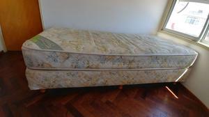 Sommier + colchón de resortes INDUCOL 1 PLAZA
