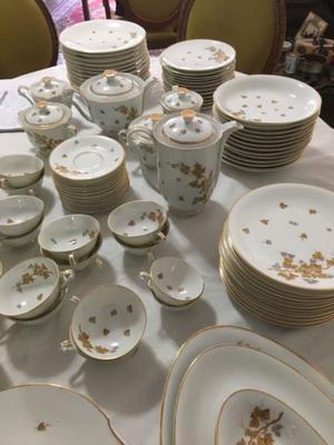 Antiguo Juego D Vajilla Porcelana Limoges 124 Piezas Sin Uso