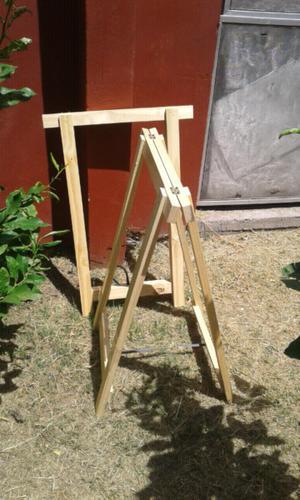 Caballete de madera nuevo sin uso