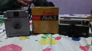 Camara De Fotos Kodak 77 X Instamatic + Brownie Fiesta 3