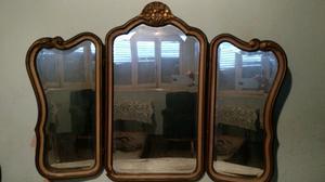 Espejo antiguo d 3 cuerpos