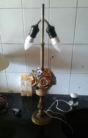 Lámpara antigua cerámica bronce