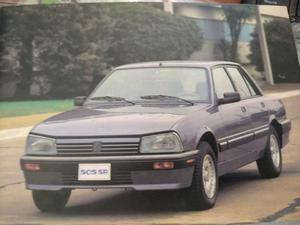 Manual de usuario original Peugeot 505 Sri