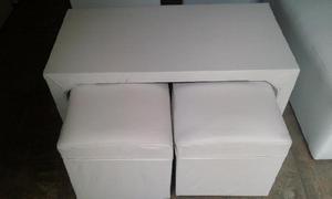 Vendo butacones, puff y mesas puente (nuevos y usados)