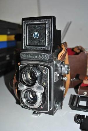 Yashica 635 Con Funda Y Kit Para 35mm Excelente Estado!!