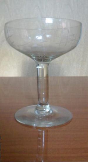 Copa Tallada Antigua De cristal de Champagne o sidra.