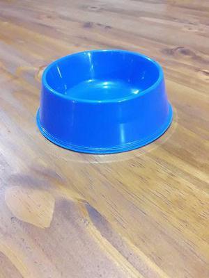 Comedero Plástico Chico Para Perros Y Gatos Varios Colores