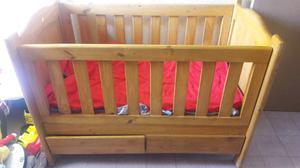 Cuna de Madera con colchón