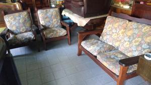 Líquido hermoso juego de sillones de algarrobo