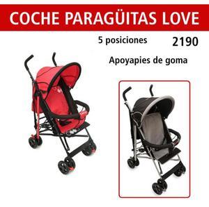 Nuevo sin uso cochecito paraguitas Love