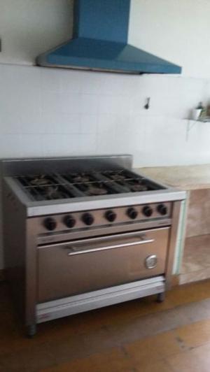 Vendo cocina industrial 6 hornallas con horno pizzero