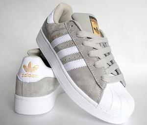 Zapatillas adidas Superstar Gris Gamuza 35 A 43