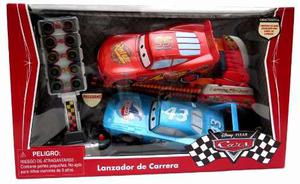 Autos Cars 3 Con Lanzador + Semaforo Rayo Mcqueen Y The King