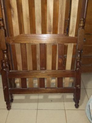 Cama de 1 plaza madera