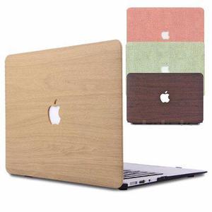 Funda Macbook Air 13 A1466 A1369 Tipo Madera Lino Mac Envio