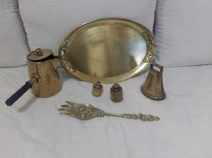 Juego antiguo decoración en bronce