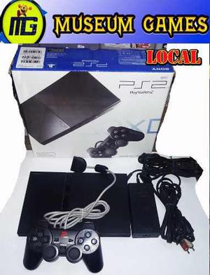 Play 2 Playstation 2 Chipeada +memory+ 10 Juegos +gtia