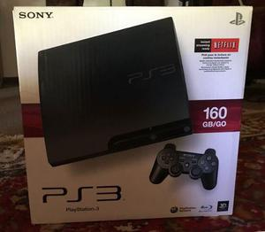 Play Station 3 De 160gb Con 2 Controles Y 2 Juegos