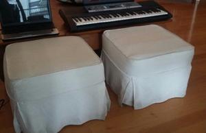 Set de 2 Puff / Banquetas cuadradas de 50x50x38cm modelo