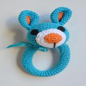 Sonajero conejo tejido al crochet