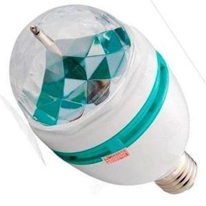 lampara giratoria led tipo bola de colores - la plata