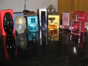 lote frascos de perfume vacíos decoración